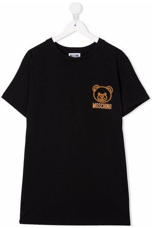 Moschino Kids Teddy bear-print short-sleeved T-shirt