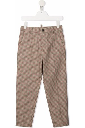 Dsquared2 Kids Check-print tailored trousers - Neutrals