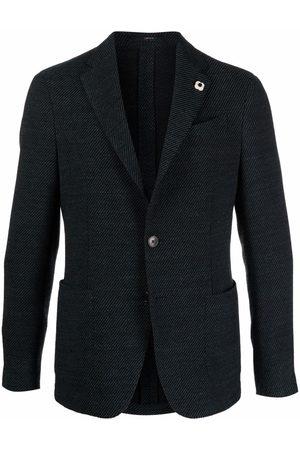 Lardini Brooch-detail single-breasted blazer