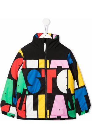 Stella McCartney Kids Girls Rainwear - Logo-print lightweight bomber jacket