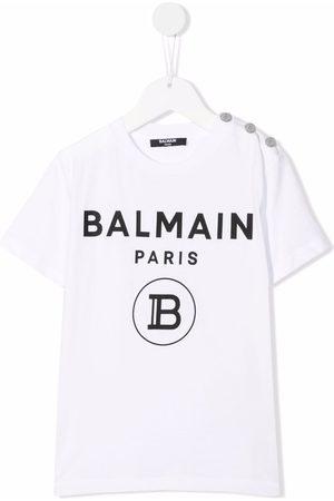 Balmain Kids TEEN logo-print cotton T-Shirt