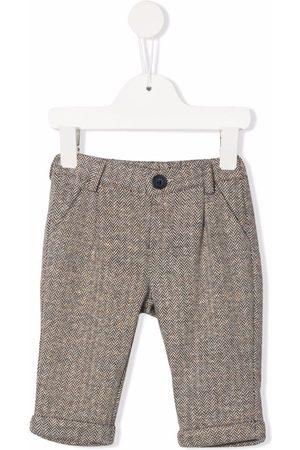 Fay Kids Herringbone tailored trousers - Neutrals