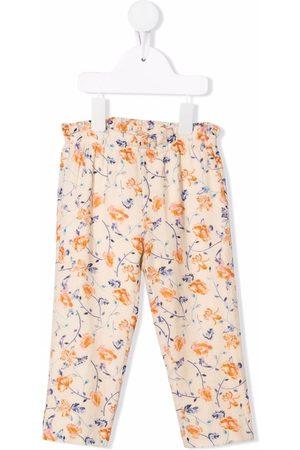 Bonpoint Floral-print elasticated trousers - Neutrals
