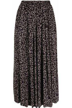 Isabel Marant Women Wide Leg Pants - Pleated wide-leg culottes - BKEC ECRU