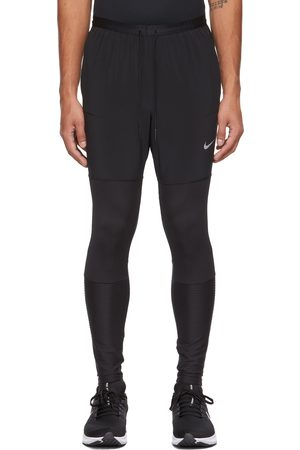 Nike Men Sweats - Black Dri-FIT Phenom Run Division Lounge Pants