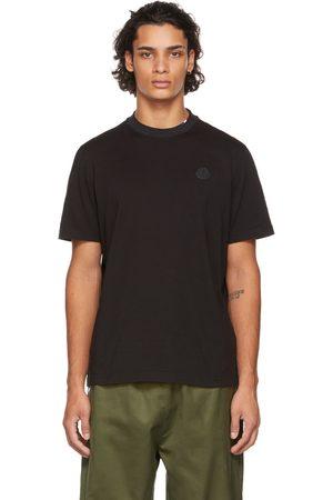 Moncler Men T-shirts - Black Layered Collar T-Shirt