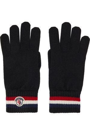 Moncler Men Gloves - Black Wool Stripe Gloves
