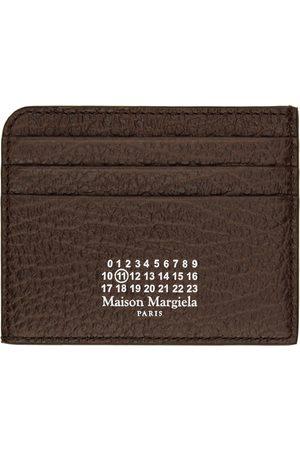 Maison Margiela Women Wallets - Brown Grained Leather Card Holder