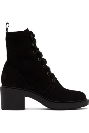Gianvito Rossi Women Lace-up Boots - Suede Foster Lace-Up Boots