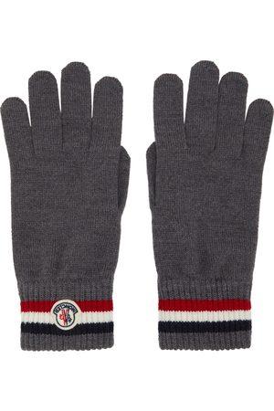 Moncler Men Gloves - Grey Wool Stripe Gloves
