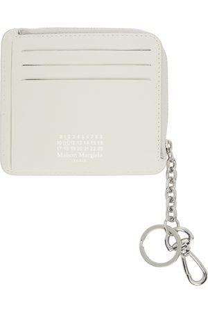 Maison Margiela Off-White Keychain Coin Purse Card Holder