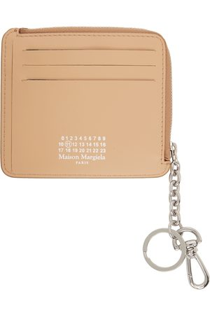 Maison Margiela Women Wallets - Beige Keychain Coin Purse Card Holder