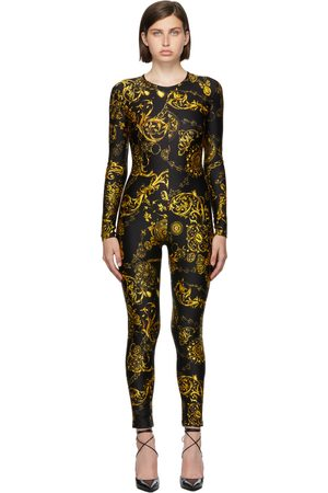 Versace Jeans Couture Black & Gold Regalia Baroque Jumpsuit