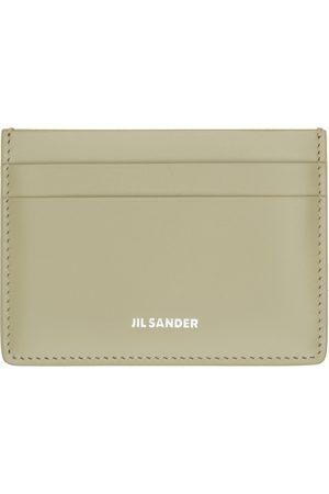 Jil Sander Green Logo Classic Card Holder