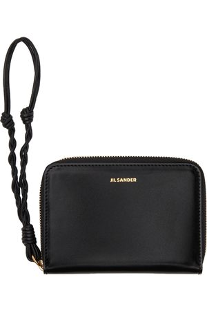 Jil Sander Black Small Zip Around Wallet