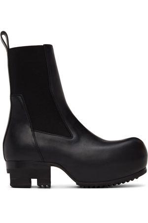 Rick Owens Black Beatle Ballast Chelsea Boots