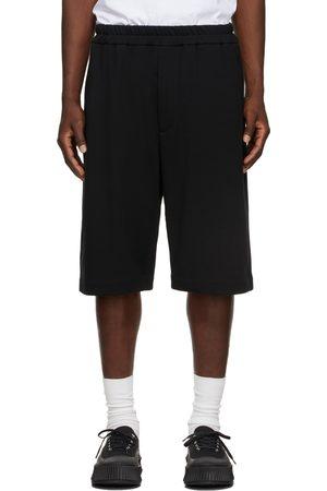 Jil Sander Black Terry Logo Shorts