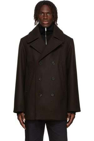 Jil Sander Brown Wool Double Breasted Coat