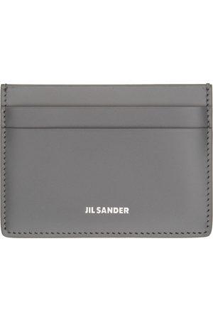 Jil Sander Grey Logo Classic Card Holder