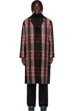 Jil Sander Multicolor Wool Check Coat