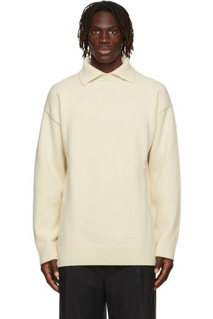 Jil Sander Off-White Wool & Cashmere Oversized Polo