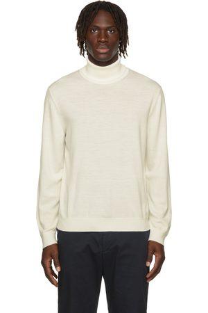 Z Zegna Men Turtlenecks - White Wool Turtleneck