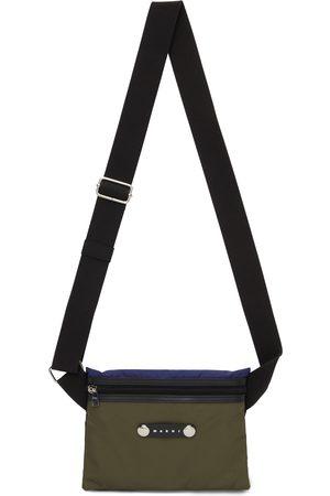 Marni Tricolor Hackney Flat Messenger Bag