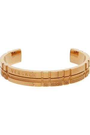 Versace Gold Tartan Bangle Bracelet
