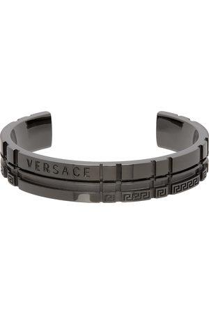 Versace Silver Tartan Bangle Bracelet