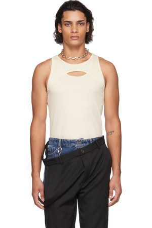 Dion Lee Off-White Muscle Interlock Tank Top