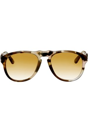 JW Anderson Pink & Brown Persol Edition Aviator Sunglasses
