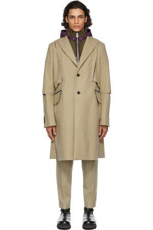 Sacai Beige Melton Wool Coat
