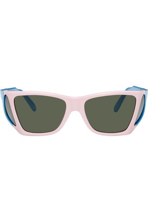 JW Anderson Pink & Blue Persol Edition Wide Frame Sunglasses