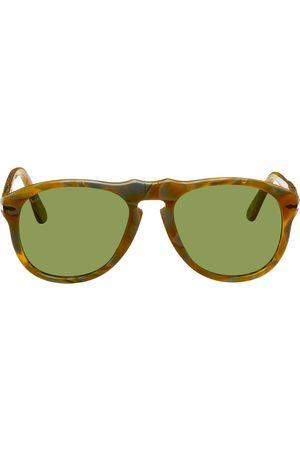JW Anderson Orange & Grey Persol Edition Aviator Sunglasses