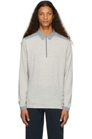 Veilance Grey Wool Frame Long Sleeve Polo