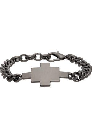 Marcelo Burlon County of Milan Gunmetal Cross Bracelet