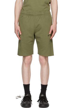 OFF-WHITE Khaki Logo Shorts
