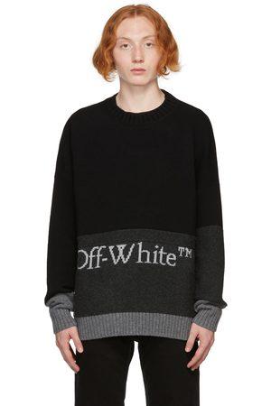 OFF-WHITE Black & Grey Color Block Sweater