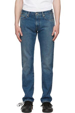 OFF-WHITE Blue Diag Pocket Slim Jeans