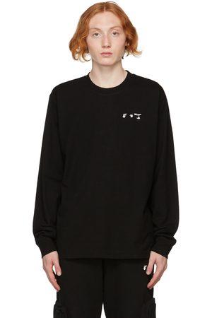 OFF-WHITE Black Logo Long Sleeve T-Shirt