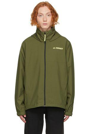 adidas Originals Men Rainwear - Green Terrex Rain Jacket