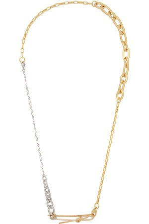 Bless Gold & Silver Mix Material Necklace