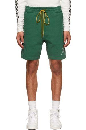 Rhude Green Logo Sweat Shorts