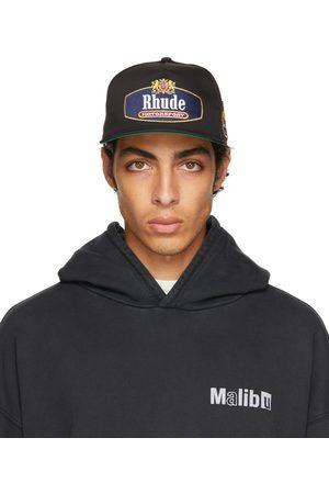 Rhude Black Racing Crest Cap