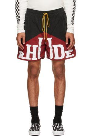 Rhude Black & Red Cupro Yachting Shorts