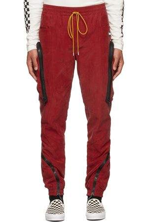 Rhude Red Cupro Yachting Cargo Pants