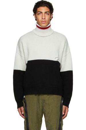 Rhude Black & Off-White Wool Colorblock Turtleneck