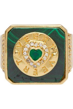 VEERT Gold & Green Signature Malachite Ring