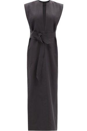 WARDROBE.NYC Women Tunic Dresses - Release 06 Belted Cotton Kaftan Dress - Womens