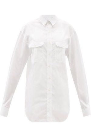 WARDROBE.NYC Women Casual Dresses - Release 06 Cotton Mini Shirt Dress - Womens